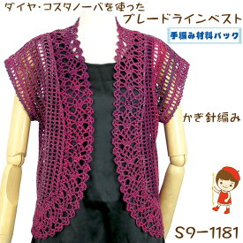 #送料無料【手編み材料パックです】【ダイヤ コスタノーバ】を使った【ジグザグ模様のプル】