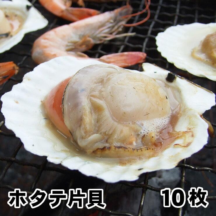 北海道産【片貝ホタテ10枚セット】(約500g入り)[冷凍]【バーベキューにおススメ】