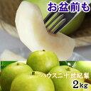 【予約販売】【送料無料】【お中元♪ ご進物に最適!!】鳥取県産【ハウス二十世紀梨】[進物用] 2kgセット(5-7玉入) 同…
