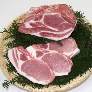 豚肉 つくば育ちの「もち豚秀麗」ロース肉1kg 送料無料!