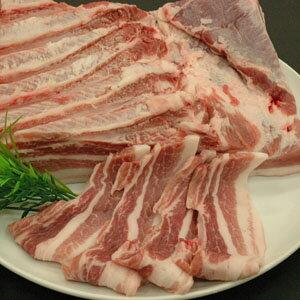 豚肉(ローズポーク)バラ肉1kg 送料無料!