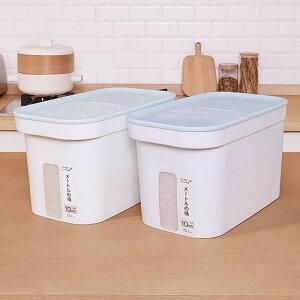 洗えて清潔!米びつ 10kg すり切り計量スコップ付 引き出し用 米櫃 ライスストッカー シンク下米びつ こめびつ 計量カップ付き お米カップ付き 引き出し用米びつ 冷蔵庫用 10キロ 可視化残量