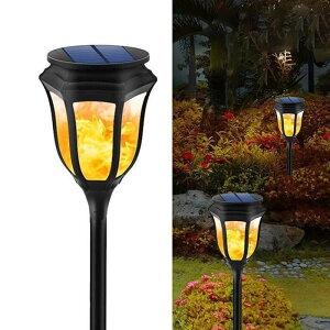 ガーデンライト 玄関 ソーラー充電式 太陽光 飾りライト センサーライト ソーラーライト 庭園ライト IP65防水 電池不要 省エネLED 太陽エネルギー 夜間自動点灯 歩道芝生庭ガーデン屋外など