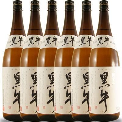 黒牛(くろうし) 純米酒 一升瓶6本セット1800ml×6 和歌山県 名手酒造店 日本酒 ケース販売