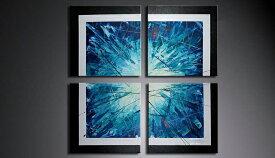 アートパネル 絵画 インテリア /Sサイズ/青の抽象/おしゃれ 絵 油絵 アートパネル 玄関に飾る ニッチ 壁掛け モダン アート(SALE対象)