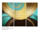 絵画 インテリア 壁掛け おしゃれ 絵 蒼 ゴールド 抽象画新築 玄関 リビング 和風 和モダンアート 枯山水モチーフホテ…