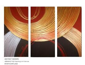 絵画 赤 ゴールド おしゃれ 壁掛け 絵 インテリア 抽象画 玄関 リビング 新築 和風 和モダン モダンアート 3枚組 旅館 ホテル オフィス モデルハウス モデルルーム金色 gold 銀色