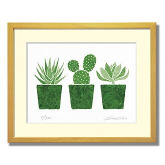 """[3 盆栽多肉植物、 富士谷武尼作品畫冊專輯列印""""高貴的植物的顏色是受歡迎 ' 禮物禮物 [有趣的禮物 _ [SC] [B] 和 [A] 繪畫藝術"""