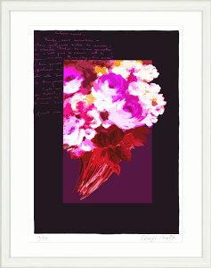 【新着】絵画 額入り インテリア Le bouquet「花束」アート 壁掛け 絵 花の絵 ブーケ 風水 おしゃれ 玄関 レストラン 美容室 リビング 飾る 額絵 アートポスター フレンチ モダン 版画