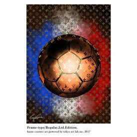 絵画 おしゃれ 絵 ブランド アートLV SOCCER 重厚感のある手塗りの額縁 限定版 70cm×95cmメゾン・ド・アート ContemporaryArt C.Garcia