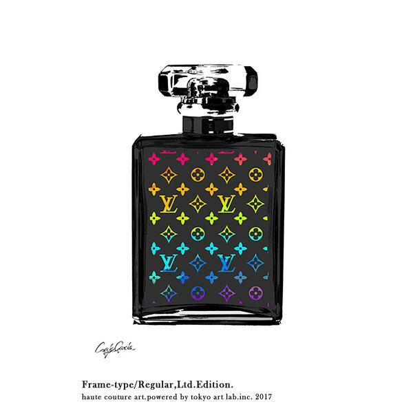 絵画 おしゃれ 絵 ブランド アートLV MONOGRAM No5 モノグラム ヴィトン重厚感のある手塗りの額縁 限定版 70cm×95cmメゾン・ド・アート ContemporaryArt C.Garcia