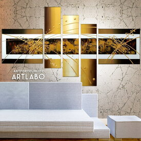 【お買物マラソン】絵画 インテリア 壁掛け/Abstract Gold Metallic Design/人気 モダンゴールド おしゃれ アートパネル 玄関 ホール 内装アート 抽象画 金色