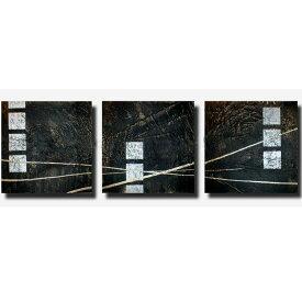 絵画 インテリア 黒銀の抽象【Sサイズ】おしゃれ アートパネル 玄関に飾る絵 ニッチ リビング 壁掛け(SALE対象)
