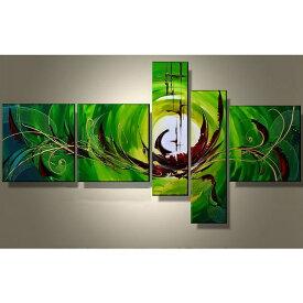 絵画 アートパネル 緑青色の抽象/Sサイズ/おしゃれ 絵 玄関に飾る ニッチ リビング 壁掛け モダン 手書き(SALE対象)