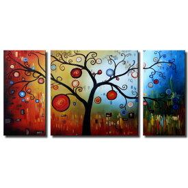 絵画 装飾用 インテリアアート 生命の樹【Sサイズ】アートパネル おしゃれ 絵 壁掛け ニッチ トイレ 玄関に飾る モダン抽象画(SALE対象)