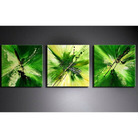 アートパネル 絵画 インテリア /Sサイズ/緑の抽象/おしゃれ 絵 油絵 玄関に飾る ニッチ 壁掛け モダン アート(SALE対象)