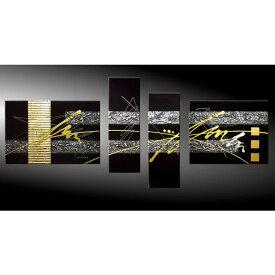 【Sサイズ】絵画 インテリア/金 銀の抽象/おしゃれ 絵 油絵 壁掛け ニッチ 玄関に飾る モダン アート(SALE対象)