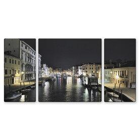 絵画 インテリア USART ファブリックパネル ヴェニス W100cm H50cm D2cm SIZE/L 3枚セット 横長 イタリア 絵 新築 壁絵 飾り 装飾 壁 軽量 軽い
