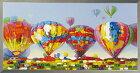 絵画額入り【AirBallonsfestival(気球大会)】熱気球エアバルーン気球熱気球大会をモチーフ立体感のある最新のモダンアートを♪【額付き】