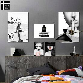 CREA アートパネル 5枚セット Iconic Pop インテリア アート 絵 おしゃれ かわいい 壁掛け シャネル 海 サーフィン 中指 女性 ブランド ポスター オマージュ モノクロ 韓国