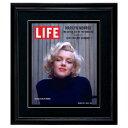 LIFE アートポスター「マリリン・モンロー」インテリア おしゃれ 絵 壁掛け 写真 雑誌 表紙 黒フレーム 絵画 ライフ …