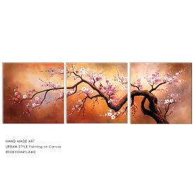 絵画 桜【初春の山桜】花の絵 おしゃれ 壁掛け インテリア 油絵 「和を基調に、個性的でお洒落な和モダンアート」W180cm 大型