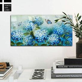 【初回限定20%OFFクーポン】アートパネル PINCUSHION FLOWER BUTTERFLY 壁掛け インテリア 青い花 植物 北欧 自然 風景 抽象 リビング ベッドボード 玄関 撮影 洋風 絵画 蝶 揚羽