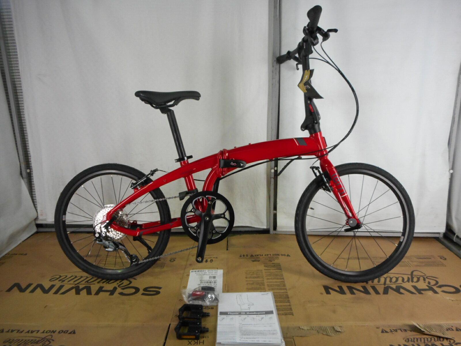 【整備済】【30%OFF】アウトレット2018Tern(ターン)Verge D9 RED/GRAY 折りたたみ自転車 在庫限り