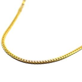 サージカルステンレス製ネックレスチェーン 4mmゴールドヘリンボーンチェーン 50cm金属アレルギー対応