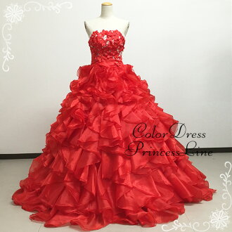 Adult dress floral embroidered organza dress ★ Princess ★ skirt volume 9 issue-# 11-13 (red)-30088 st