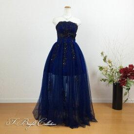 【新商品】カラードレス ミニドレス 7号9号 胸元から入った刺繍が綺麗なドレス リボン 大人 演奏会用ドレス 発表会 19301