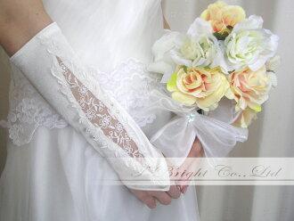 Gloves wedding ceremony wedding (g156) that there is no wedding glove (off-white) fingerless glove wedding glove finger in