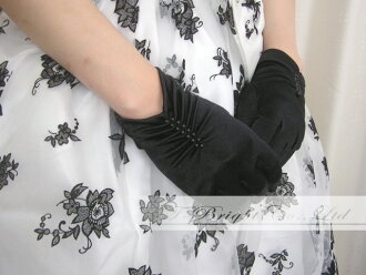 Color glove, black, short glove, short ♪ color glove ☆ black (g202)