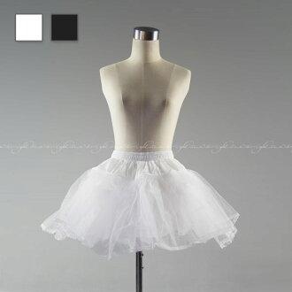 On mini-pannier white ★ W56 - 80cm ★ correspondence size (XS/S/M/L) ★ (p0008pr) beautiful dress line♪