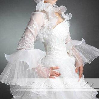 Organdy bolero ★ wedding ★ S - medium size ★ off-white (bo008) of bolero Longus Reeve