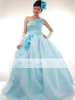 Organdy colored racesless ★ princess line ★( light blue) tb376 of the size order chest embroidery & corsage