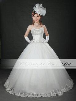 Size order hem embroidered wedding dress ★ Princess ★ wedding, wedding dress ★ tb534