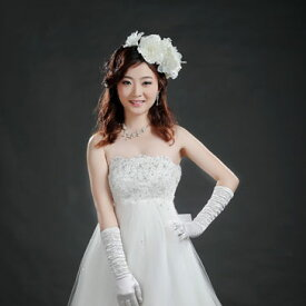 サイズオーダー ウエディングドレス 5号〜25号 オフホワイト 背中リボンの刺繍入りウェディングドレス 小さいサイズ・大きいサイズ お客様サイズにてお作りします マタニティの方も安心エンパイアライン tb528