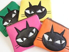 《メール便OK》黒猫ポーチ ミニサイズ ファッション雑貨 ねこ 猫 キャット 小物入れ