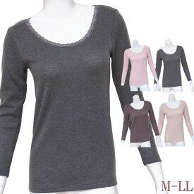 吸湿発熱 8分袖 インナーシャツ あったか 袋編み 日本製[M:1/1]M/L/LL 大きいサイズ 長袖 レディース 保温 秋冬 防寒 暖かい下着