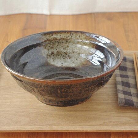 油滴結晶 石目 6.3寸ラーメン丼   丼ぶり/ラーメン丼ぶり/黒い食器/和食器/ボウル