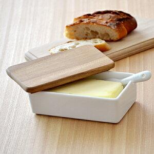 LOLO 木蓋バターケースキッチングッズ バター入れ 200gバター用 保存容器 キッチン雑貨 バターケース おしゃれ カフェ風 北欧 シンプル カフェ食器
