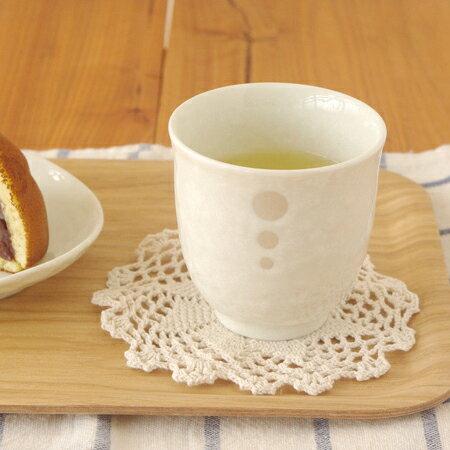 和食器 水玉 長湯呑 白 (ドットモノトーンシリーズ) (アウトレット込み)和食器/ゆのみ/水玉模様/白い食器/茶器