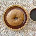 カラメルトルテ 塗り分けプレート    カラフルな食器/おうちカフェ/ケーキ皿/パン皿/取り皿/プレート