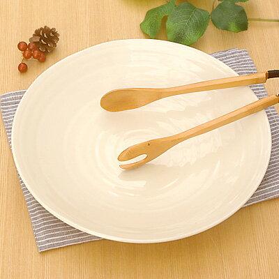 9寸 うず大皿(28cm) クリーム (アウトレット)  大皿/盛り付け皿/パーティー/素朴/盛り皿/和食器
