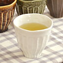 和のしのぎカップ (白結晶)   湯呑み/ゆのみ/コップ/茶器/和食器/湯呑