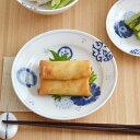 藍三昧 (花友禅) 5寸皿 (アウトレット込み)   お皿/取り皿/和食器/藍染/プレート/おもてなし