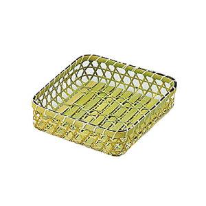 六ツ目タラシ 中(27.5x26x高さ7cm)    竹製 キッチン雑貨 キッチン用品 調理道具 ディスプレイ 水切り ざる ザル 業務用