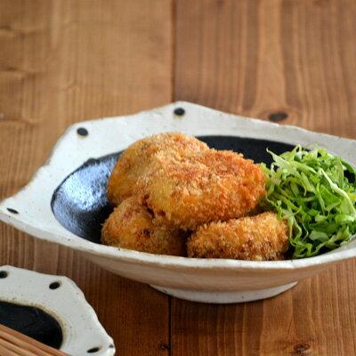 和食器 和黒 変形大鉢 (アウトレット込み)    鉢/大皿/盛り付け鉢/ボウル/和の食器/カフェ食器
