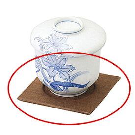 焼杉茶碗蒸台   木製 天然木 コースター キッチン用品 業務用 茶托 茶碗蒸し台